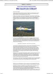 Wie taucht ein U-Boot? - MODELL-U-BOOTE.de