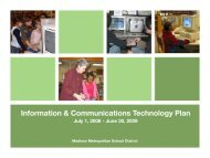 Information & Communications Technology Plan - Malcolm Shabazz ...
