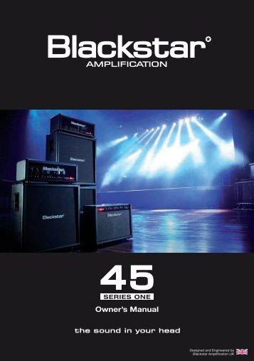 Owner's Manual - Blackstar Amplification
