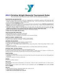 2012 Christina Wright Memorial Tournament Rules