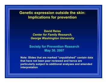 David Reiss, George Washington University Medical Center