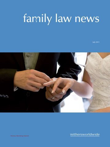 Family Law News July 2011 - Withers