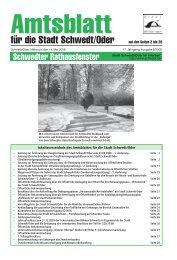 Amtsblatt 5/2008 vom 14. Mai 2008 - Stadt Schwedt/Oder