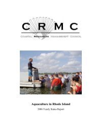 Rice, M. 2006. A brief history of oyster aquaculture in Rhode Island ...