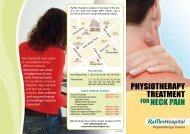 physiotherapy treatment for neck pain - Raffles Medical Group