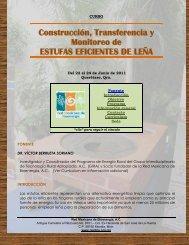 Construcción, Transferencia y Monitoreo de ESTUFAS EFICIENTES ...