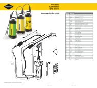 PICO 3232 FLORI 3232R HERBI 3232U Compression Sprayers - KABI