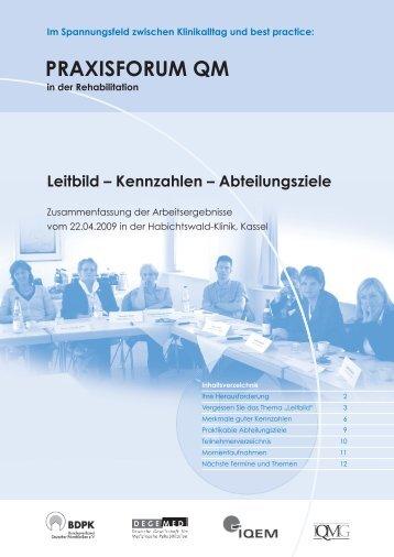 praXisForum Qm - IQMG Institut für Qualitätsmanagement im ...