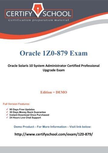 Oracle 1Z0-879 Exam