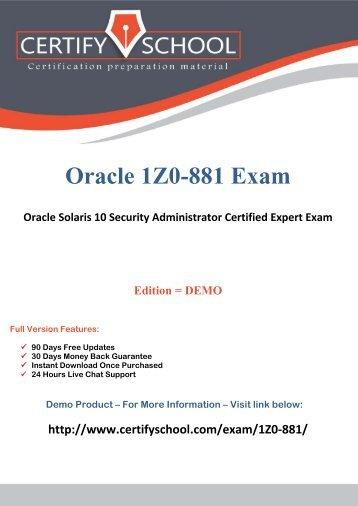 Oracle 1Z0-881 Exam