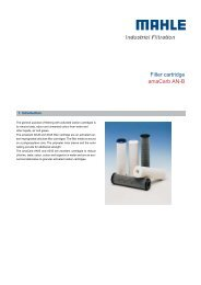 Filter cartridge amaCarb AN-B - MAHLE Industry - Filtration