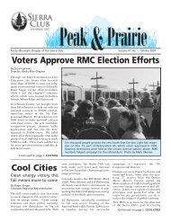 Jan/Feb/Mar 2007 (pdf) - Sierra Club Rocky Mountain Chapter