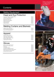 Contents Safety Equipment Head and Eye ... - Lincoln Electric