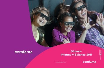 Síntesis Informe y Balance 2011 - Comfama