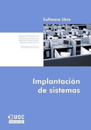 Implantación de sistemas - Universitat Oberta de Catalunya