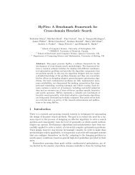 HyFlex: A Benchmark Framework for Cross-domain Heuristic Search