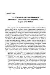 Egy kis Magyarország Nagy-Romániában. Alternatívák a ...