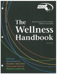 Wellness Handbook - Massachusetts Interscholastic Athletic ...