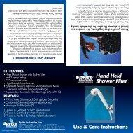 Hand Held Shower Filter - Air & Water