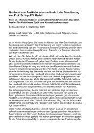 Grußwort - Mitarbeiter-Homepages des MBI: Max-Born-Institut für ...