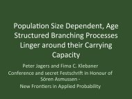 Popula\on Size Dependent, Age Structured Branching Processes ...