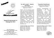Sommerferienprogramm im Palmengarten 2012