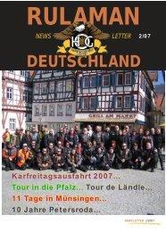 Newsletter 02 / 2007 - Rulaman Deutschland e.V.