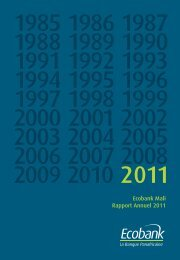 Ecobank Mali Rapport Annuel 2011