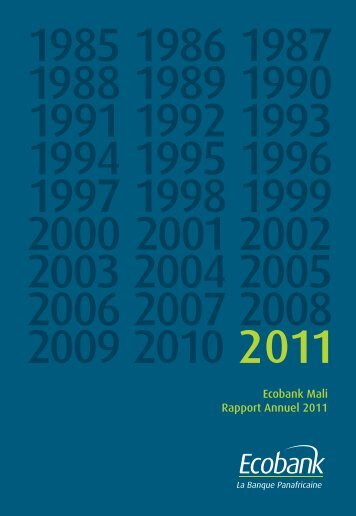 Ecobank Mali Rapport Annuel 2011