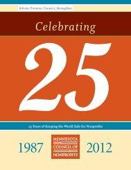 Celebrating 25 Years - Minnesota Council of Nonprofits