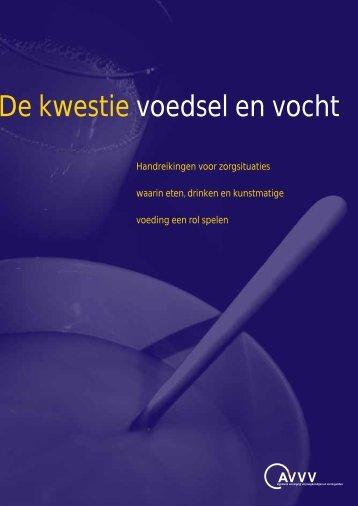 Brochure De kwestie voedsel en vocht