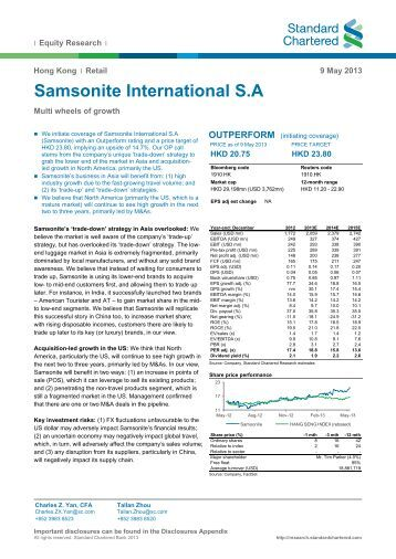 Summit shock fades; Samsonite struggles; Europe's big data day
