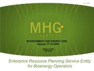 Enterprice Resource Planning Service Entity for Bioenergy Operators