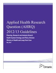 Applied Health Research Questions 2012/13 Guidelines