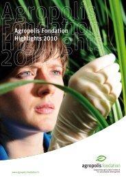 Agropolis Fondation Highlights 2010