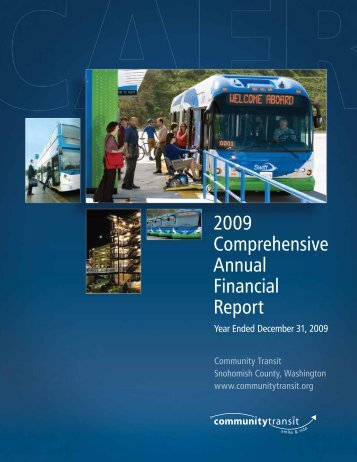 2009 Comprehensive Annual Financial Report - Community Transit
