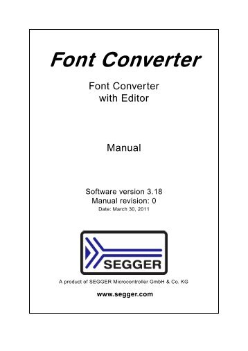 Font Converter User Guide - SEGGER Microcontroller