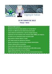 19 DE JUNHO DE 2012 Terça– feira - Sindimetal/PR