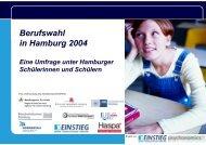 Berufswahl in Hamburg 2004 Eine Umfrage unter Hamburger