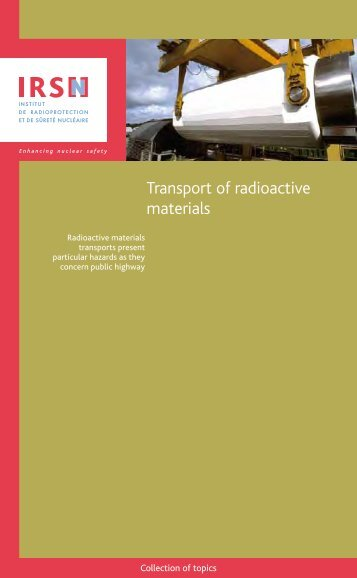Booklet : transport of radioactive materials - IRSN