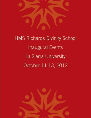 HMS Richards Divinity School Inaugural Events La Sierra University ...