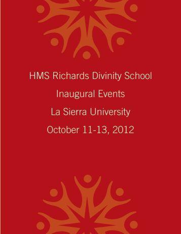 HMS Richards Divinity School Inaugural Events La Sierra University ...
