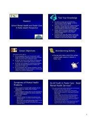 Module 6 - School Mental Health