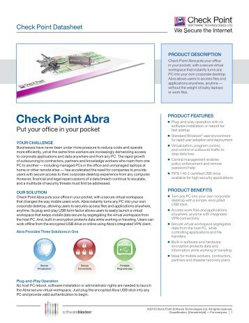 Check Point Abra - Scunna Network Technologies