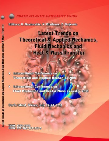 LATEST TRENDS on THEORETICAL and APPLIED ... - Wseas.us