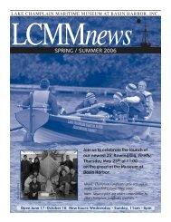 SPRING / SUMMER 2006 - Lake Champlain Maritime Museum