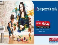 HDFC Mid - Cap Opportunities Fund - August 2012 - HDFC Mutual ...