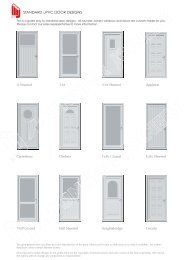 STANDARD uPVC DOOR DESIGNS - Munster Joinery