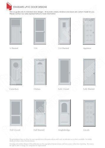 STANDARD uPVC DOOR DESIGNS - Munster Joinery