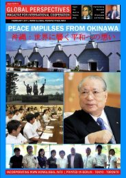 GLOBAL PERSPECTIVES   February 2011 - JAPAN EDITION